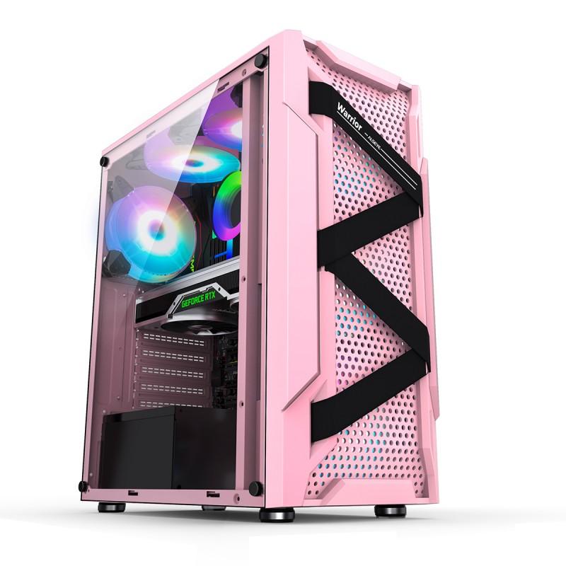Gabinete Gamer Warrior Pink marca Alseye