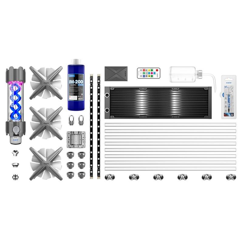 Kit de Refrigeraci—n ALSEYE Xtreme Water X360  HARD TUBE + Liquido Refrigerante