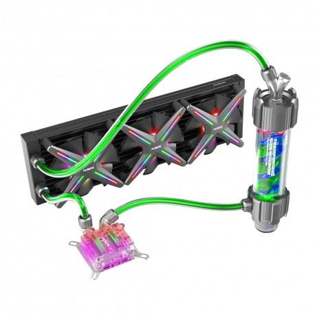 Sistema de Refrigeración Líquida ALSEYE Xtreme Water X360 Soft Tube + Liquido Refrigerante