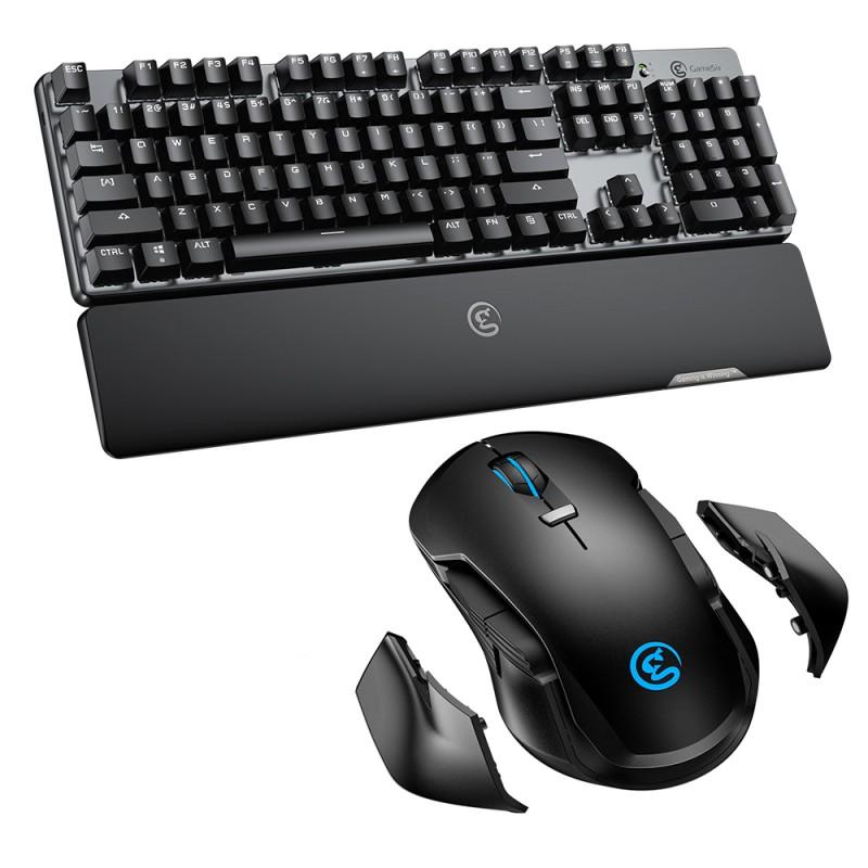 COMBO Gamesir Teclado GK300 Mecanico + Mouse GM300 Inal‡mbrico 2,4Ghz