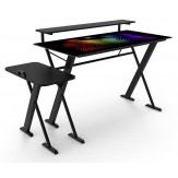 Escritorio GOOD-GAME StarDust con soporte para Gabinete, Monitor e iluminación RGB en la Cubierta