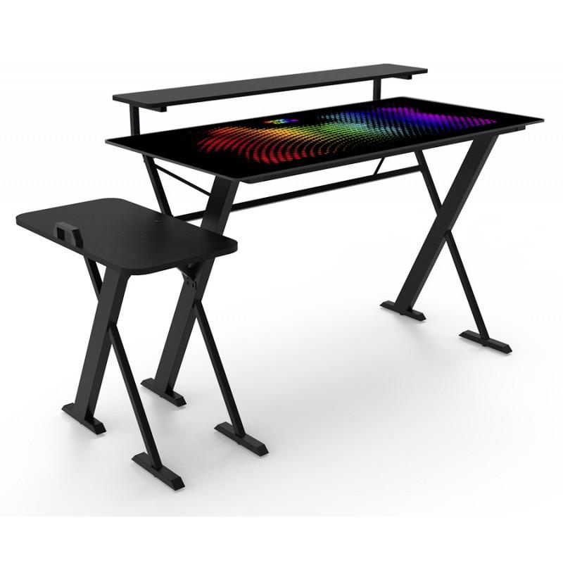 Escritorio GOOD-GAME Defender con soporte para Gabinete, Monitor e iluminación RGB
