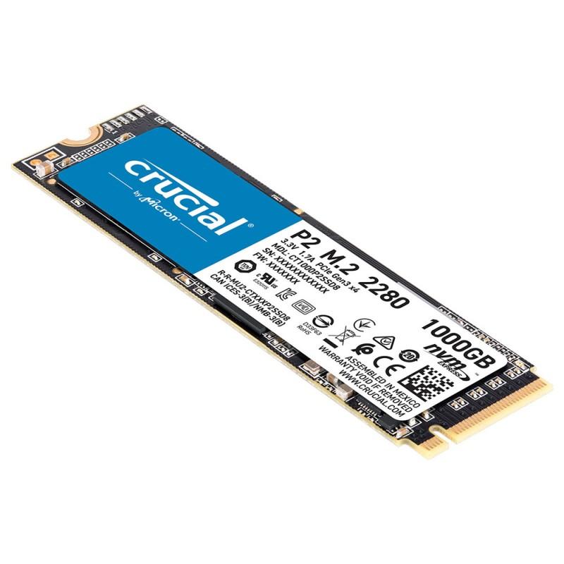 Disco Sólido SSD CRUCIAL 1TB P2 M.2 2280
