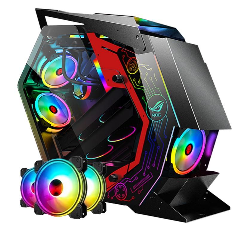 Gabinete Gamer Pro War Beast + KIT 6 Ventiladores RGB 120mm + Controlador ARGB
