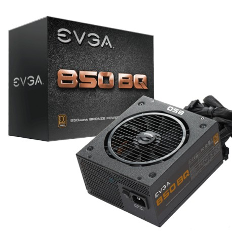 Fuente de Poder EVGA 850 BQ 80+ BRONZE 850W